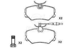 D454-7334 Semi-Metallic Brake Pads