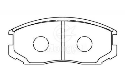D602-7482 Semi-Metallic Brake Pads