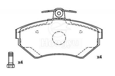 D704-7578 Semi-Metallic Brake Pads