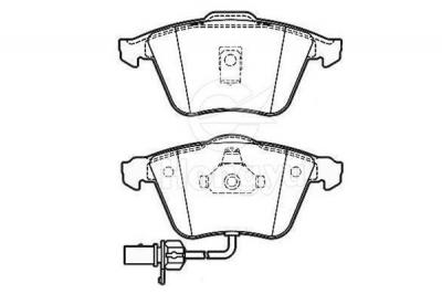 D915-7796 Semi-Metallic Brake Pads