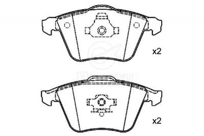 D915-8220 Semi-Metallic Brake Pads