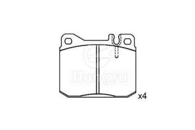 7111-D145 Semi-Metallic Brake Pads