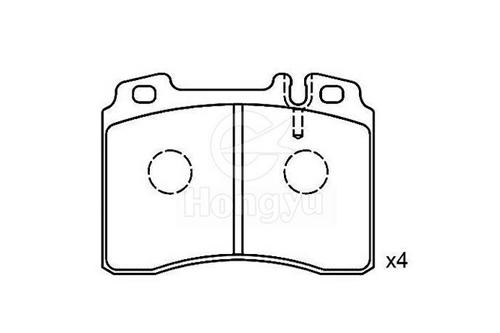 7440-D561 Semi-Metallic Brake Pads
