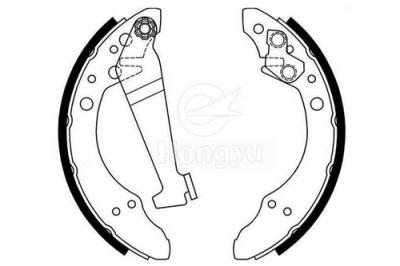 1402-495 Semi-Metallic Brake Shoes