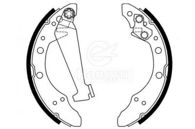 1450-S662 Semi-Metallic Brake Shoes