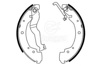 1453-S666 Semi-Metallic Brake Shoes