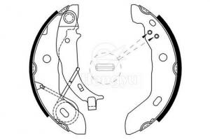 GS8627 Ceramics Brake Shoes